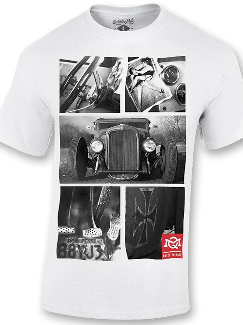 Quarter Mile t-shirt manches courtes blanc Sedan Graphic T-Shirt