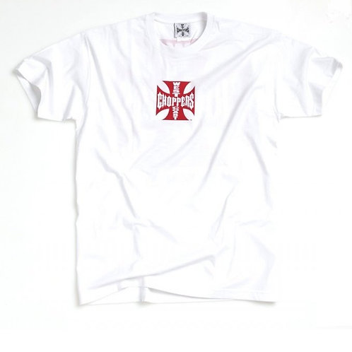 T-Shirt WCC Maltese Cross White/Red