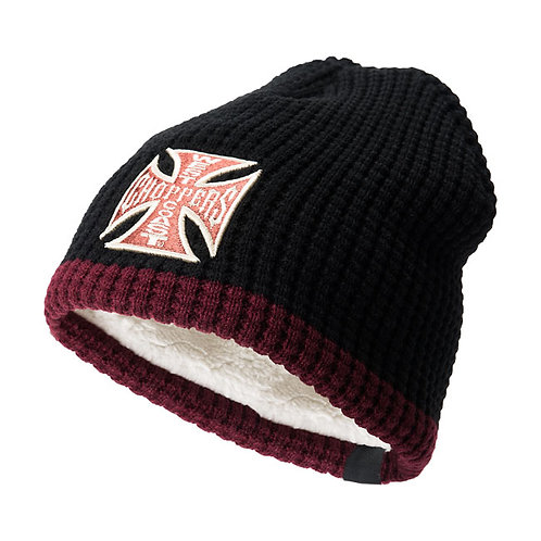 Bonnet WCC Knitted Cross Black/Bordeaux
