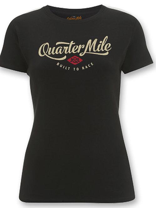 Quarter Mile t-shirt femme manches courtes noir Classic Ladies Fit