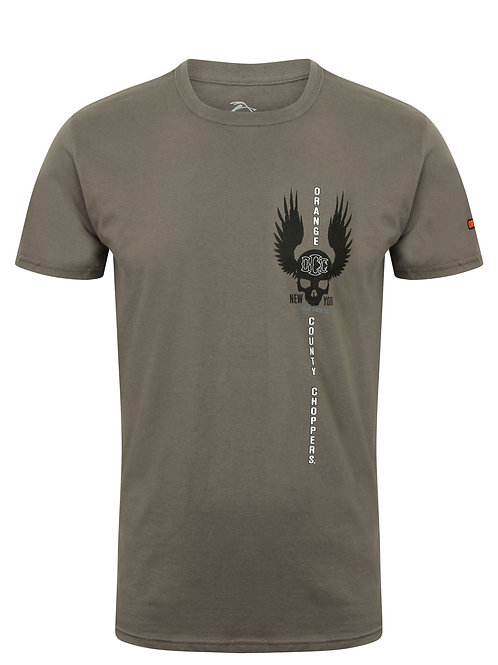 Orange County Choppers gris/kaki OCC Winged Skull Charcoal