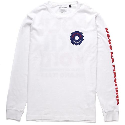 Deus Ex Machina t-shirt manches longues blanc Chain Gang