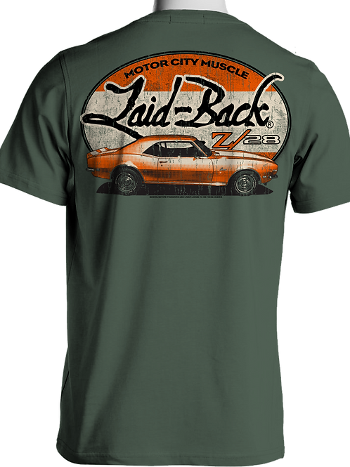 Laid Back USA t-shirt manches courtes Halfway Camaro sage
