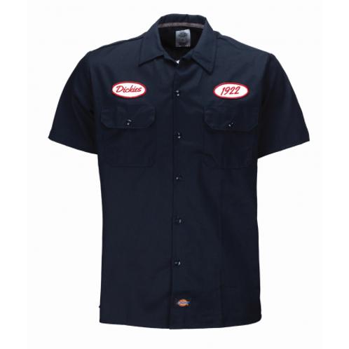 Dickies chemise Rotonda South bleu marine manches courtes