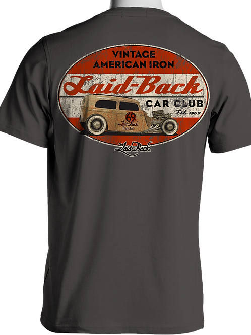 Laid Back USA t-shirt manches courtes Rat Sadan Charcoal
