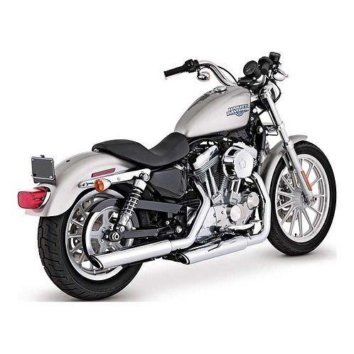 "Échappement Vance & Hines, Twin Slash 3"" slip-ons Chrome  04-13XL"