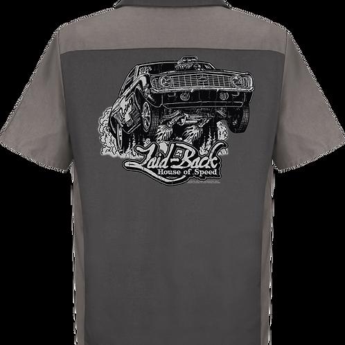 Laid Back USA chemise manches courtes Wheels Up Camaro-Men's Mechanic Shirt