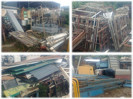 Secondhand window and door frames, roof sheets and many more