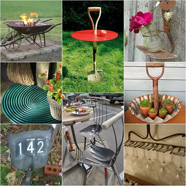upcycling garden tools