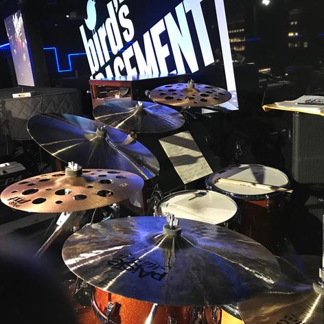 Yup...dem Paiste's! Bird's Basement Jazz Club - Melbourne, Australia