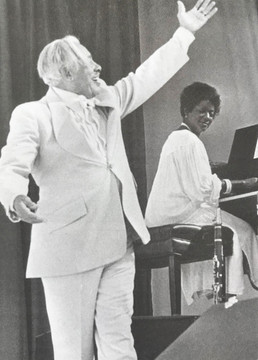 Cab Calloway and Jeannie Cheatham on tour at the San Diego Zoo Jazz Series.