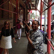 "Heading in for soundcheck for ""Black Stars of the Great White Way"" - Carnegie Hall, New York"
