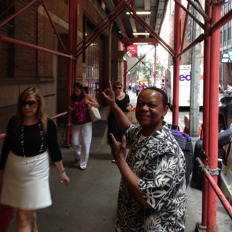 """Heading in for soundcheck for """"Black Stars of the Great White Way"""" - Carnegie Hall, New York"""