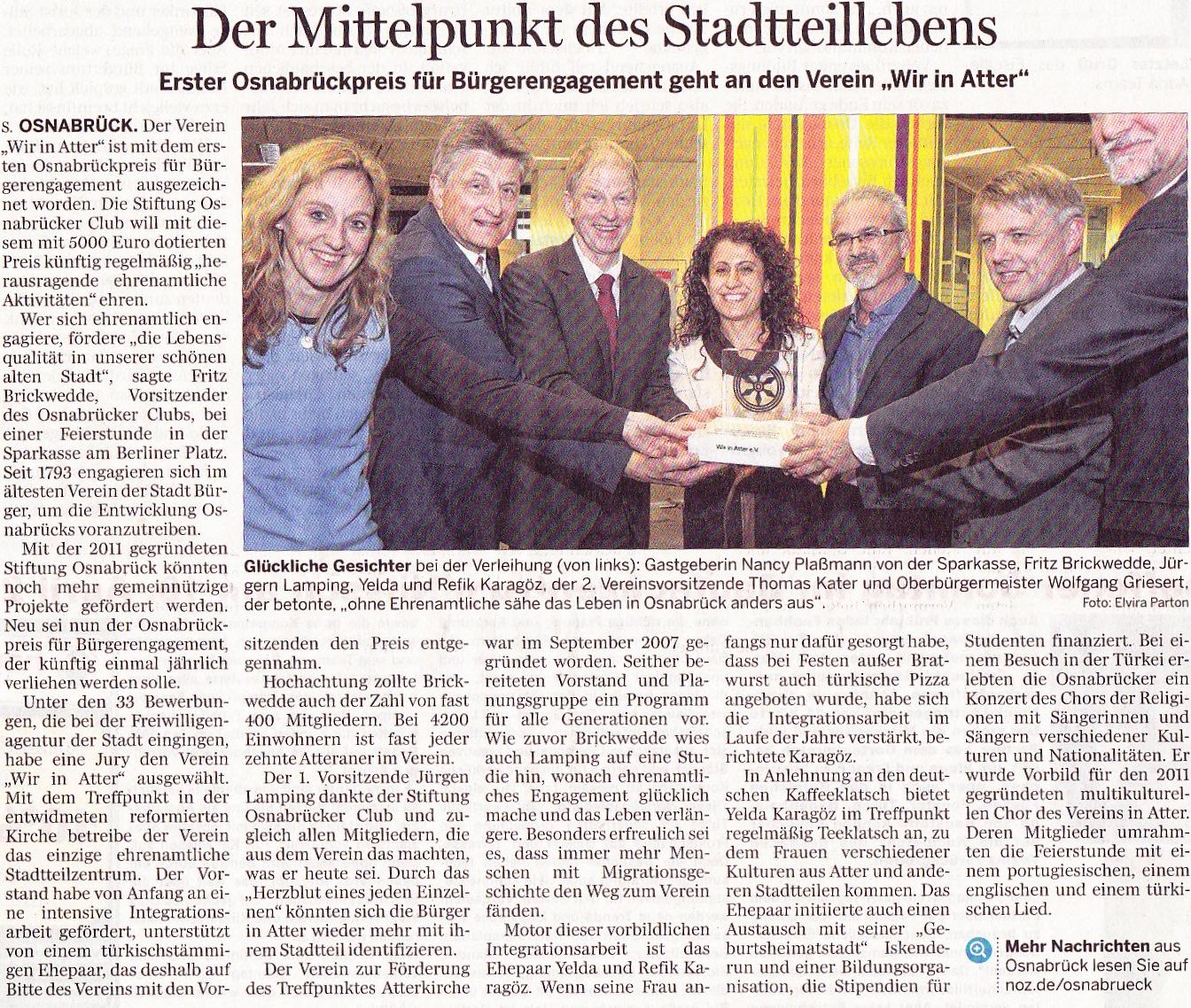 Neue Osnabrücker Zeitung vom 9.04.20