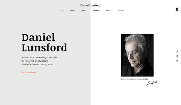 Litterär konst website templates – Author's Online Store