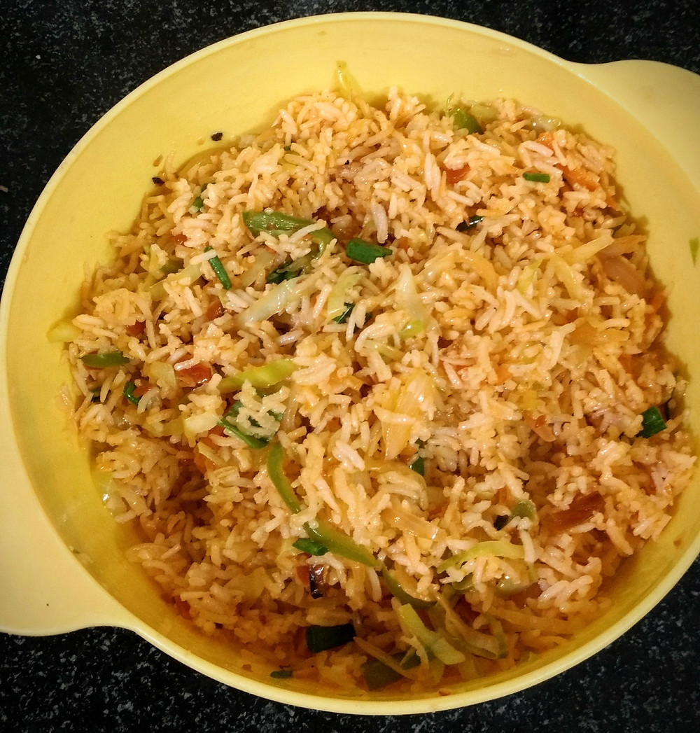 vegetarian fried rice recipe, fried rice recipe, indian chinese meal, indian street food fried rice recipe, indian recipe blog, whiskmixstir indian food recipe blog, sheetal jandial