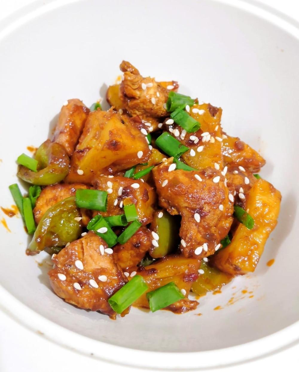 pineapple chicken recipe, orange chicken recipe, chicken recipes, indian chinese recipes, authentic indian food recipe blog whiskmixstir, sheetal jandial