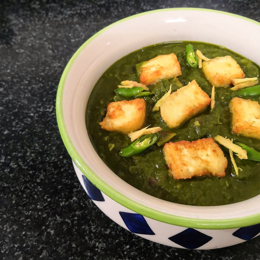 palak paneer recipe, paneer recipes, spinach recipes, indian food blog, indian recipe blog, sheetal jandial, whiskmixstir