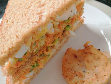 Coleslaw & Boiled Egg Sandwiches