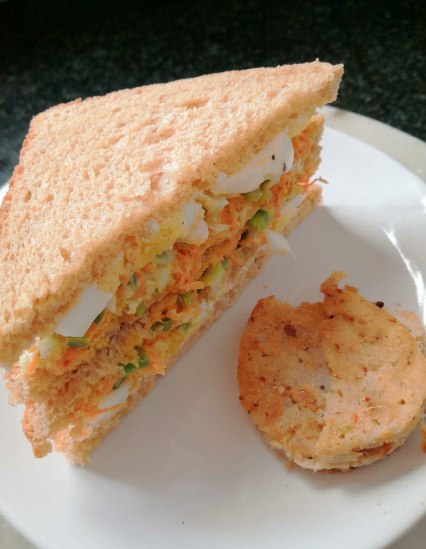 healthy coleslaw and boiled egg sandwiches recipe, chicken terrine, healthy breakfast recipes, quick and easy recipes, indian food recipe blog whiskmixstir, sheetal jandial