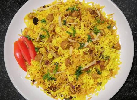 Chole (chickpeas) Biryani