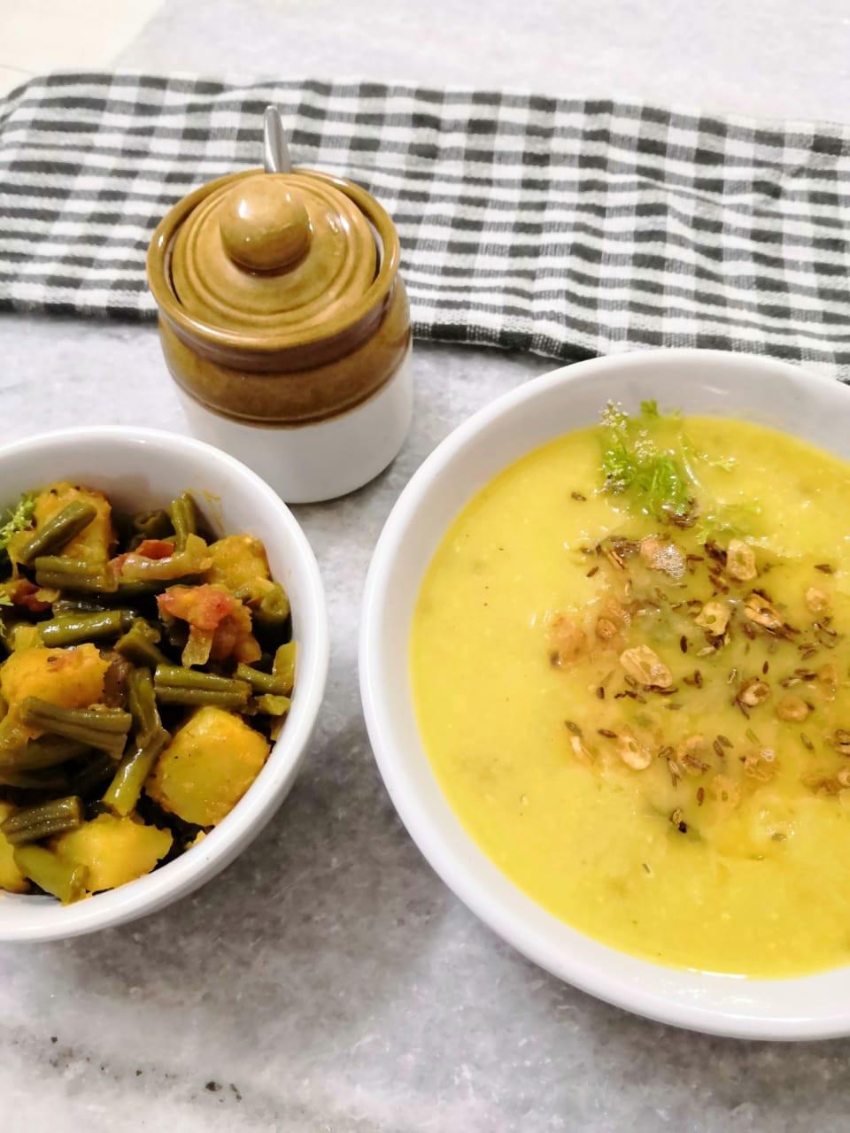 indian meal ideas, basic moong dal tadka recipe, quick and easy moong moong dal tadka recipe, simple indian meal recipe, lasuni moong dal tadka recipe, traditional indian food recipe blog WhiskMixStir, Sheetal Jandial