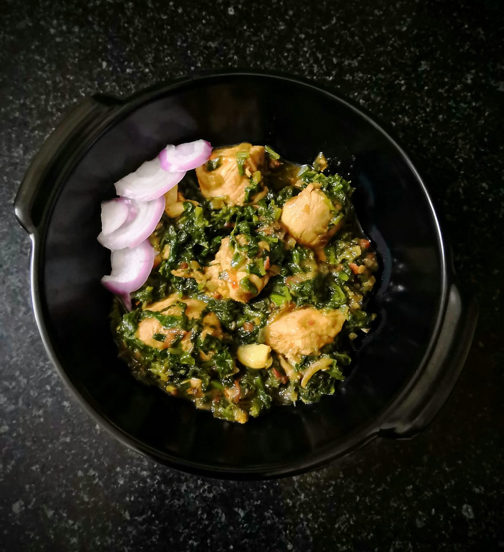 rustic palak chicken recipe, spinach chicken recipe, indian spinach recipes, traditional indian food recipe blog whiskmixstir, sheetal jandial