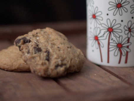 Chocolate chunk / chip cookies (eggless)