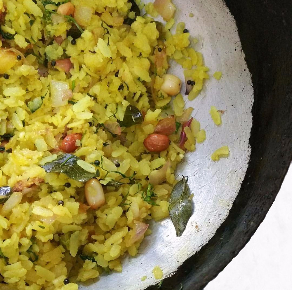 kanda poha recipe, pohe recipe, indian recipe blog, indian breakfast ideas, traditional indian food blog, whiskmixstir, breakfast recipes, sheetal jandial