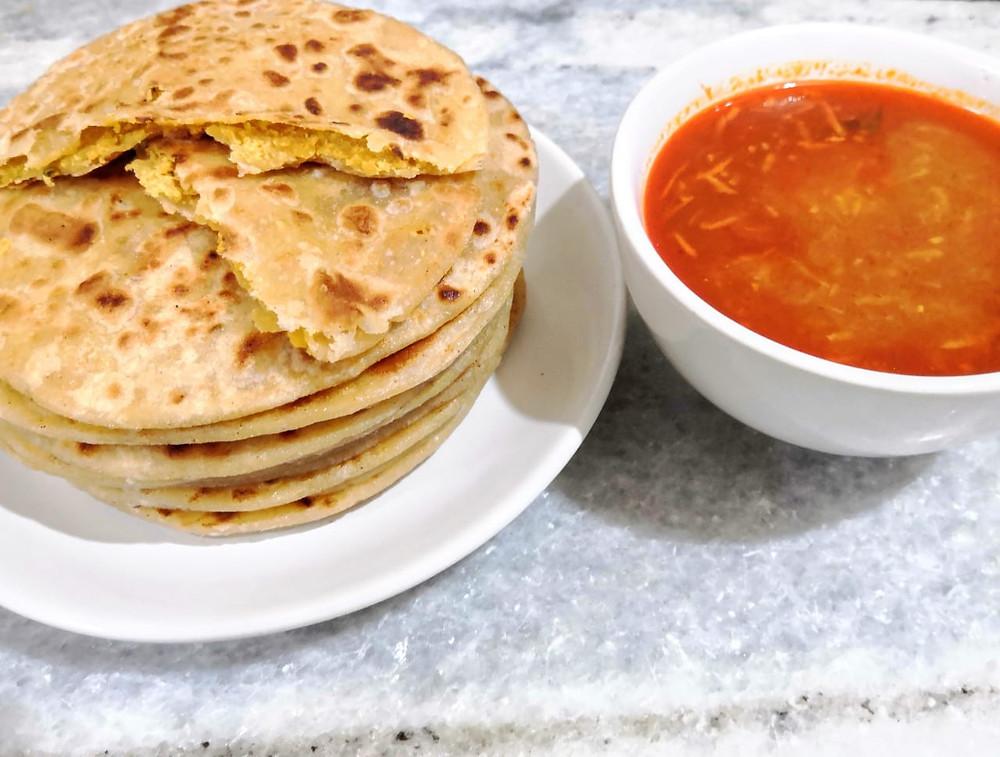 katachi amti recipe, puran poli, traditional maharashtrian recipes, Indian meal ideas, spicy gravy recipe, authentic Indian recipes blog whiskmixstir, sheetal jandial
