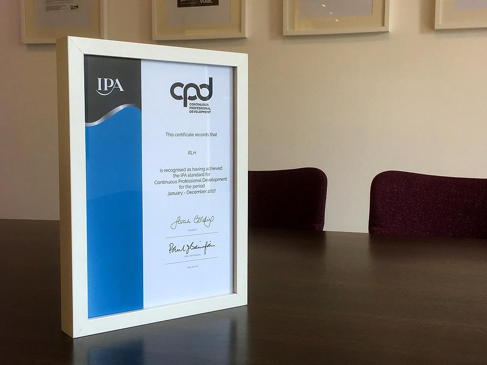IPA CPD certificate