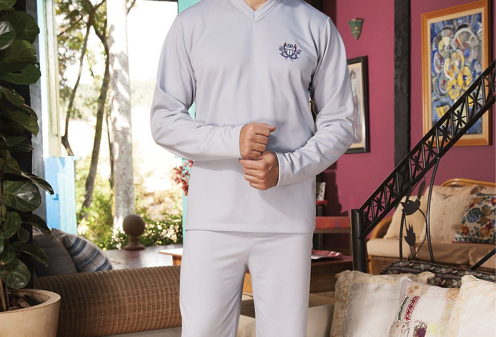 Pijama Longo Gola V | Masculino