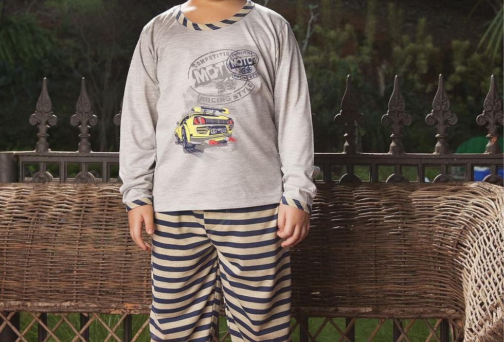 Pijama Longo Aberto | Botões
