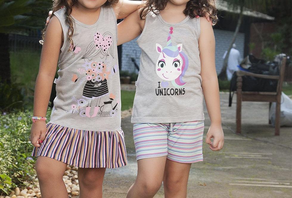 Camisolas & Short Doll | Unicórnio
