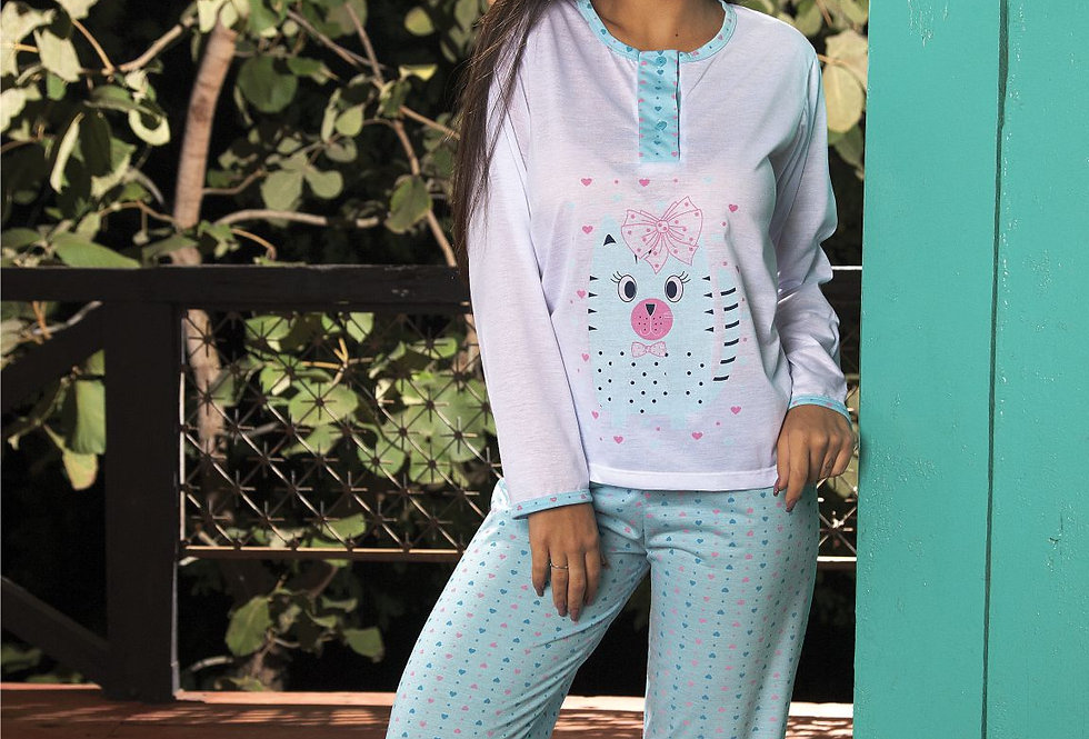 Pijama Longo | Coração