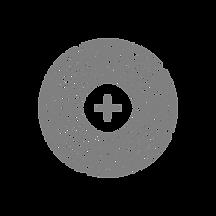 Ein Plus in der Mitte rundherum größer werdende Kreise