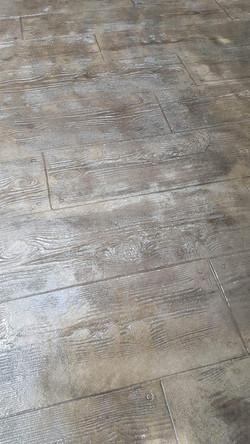 plancher de béton estampé