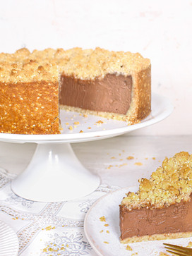 Tahini Chocolate Cheesecake mit Sesamstr