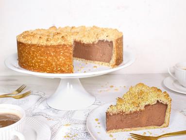 Tahini Chocolate Cheesecake mit Sesamstreuseln