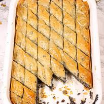 Mohn-Baklava mit Orangenblütenwasser