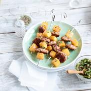 Bulette vom Sattelschwein mit Senfkaviar