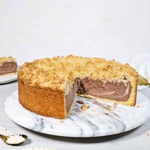 Chocolate Cheesecake mit Kokos-Streuseln