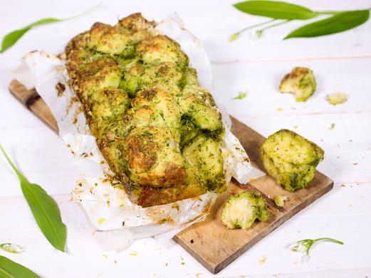Monkey Bread mit Bärlauch und Parmesan