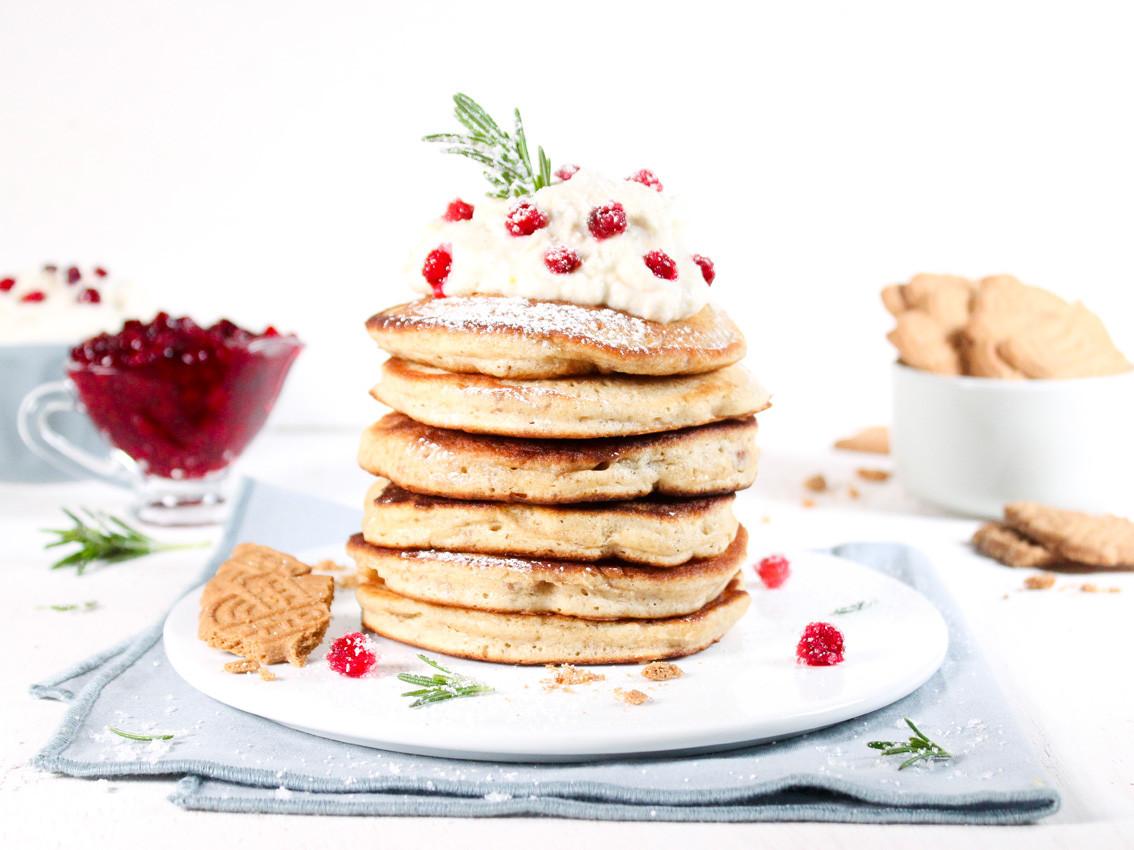 Spekulatius-Pancakes mit Orangen-Mascarp