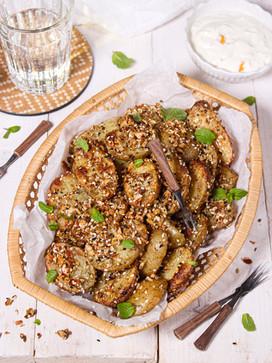 Dukkah-Kartoffeln mit Aprikosen-Joghurt-