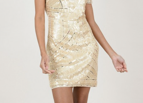 MB Gold sequin dress