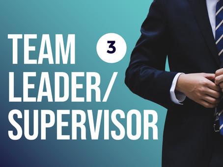 Team Leader Supervisor Level 3