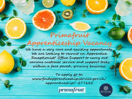 Primafruit Apprenticeship Opportunity