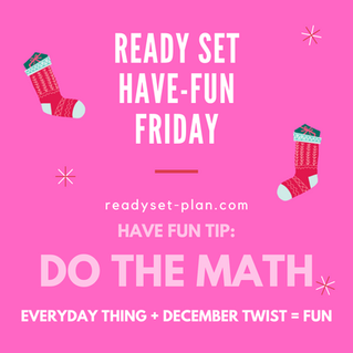 Have-Fun Friday Tip: Do Fun Math