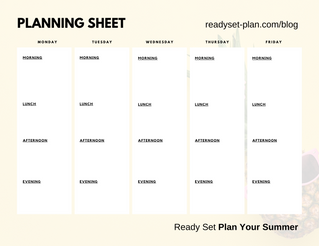 Ready Set Plan Planning Sheet
